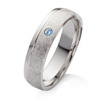 Verlobungsring aus 925 Silber Damenring mit echtem Topas Ring Gravur SET43