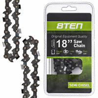 8TEN Chainsaw Chain 18 Inch Bar .050 Gauge .325 Pitch 72 Drive Links Husqvarna