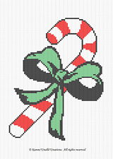 Crochet Patterns - CANDY CANE GRAPH/CHART afghan PATTERN