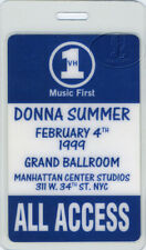 Donna Summer 1999 Laminated Backstage Pass