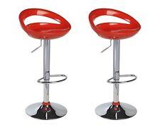 Tabouret de bar Tabouret - N°135 - en plastique rouge