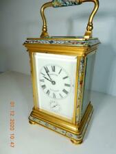 French carriage clock  enameled  Original case 1903 Shreve San Francisco
