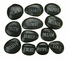 Confirmation Gift Assorted Etched Inspirational Word Pocket Stones, Box of 12