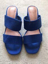 Women's Next Forever Comfort Blue Open Toe Heel Mules / Size 5.5
