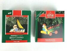 Hallmark Crayola Crayon Series Ornaments #1 Bright Journey #4 Bright Blazing .