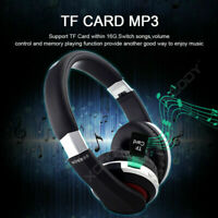 Plegable bluetooth Inalámbrico Headset Estéreo Auriculares FM Radio TF Mic MH7