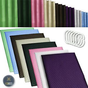 Shower Curtain Waterproof Polyester Fabric Designer Bathroom &  Hooks 180x180 CM