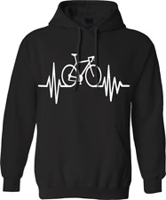 Cycle pulse Hoodie  cyclist novelty Heartbeat bicycle sport Racing Gift Gym top