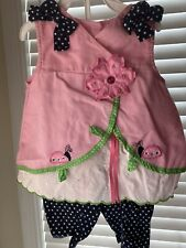 Baby Girls Size 24months Summer (Lady Bug) Outfit by Rare Too!