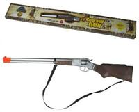 DIECAST 27 INCH OLD WILD WEST TOY LONG BARREL PLAY RIFLE western cap gun 8 shot