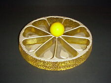 Vintage Lemon Candy Dish Yellow Plastic 1960's Retro Mid-Century