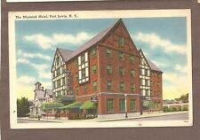 Vintage Postcard Unused The Minisink Hotel Port Jervis New York