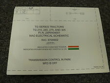 New Holland Tg215 Tg245 Tg275 Tg305 Tractor Electrical Wiring Diagram Manual