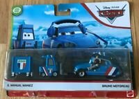 Disney Pixar Cars Bruno Motoreau and E. Manual Maniez - New - See Pictures