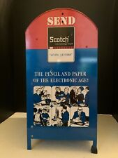 Vintage Scotch Reel to Reel Recording Tape Tin Mail Box Store Display Stand RARE