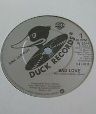 "ERIC CLAPTON - 7"" Vinyl - Bad Love / I Shot The Sheriff - 1989 - Duck Records"