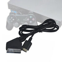 EG_ 1.8m RGB Scart TV AV Lead Connection Cable for Sony Playstation PS2 3 Flower