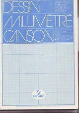 bloc papier millimetré format A4 210 x 297 mm - incomplet contient 47 feuilles
