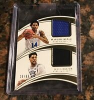 Brandon Ingram Jahlil Okafor Immaculate Dual Jersey Patch #/99 Duke Blue Devils