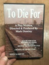 To Die For:A Play By Mark Dominy(UK DVD)Holocaust WW2 Youth Theatre Production