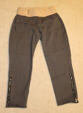 """Gap Maternity Gray """"Skinny Mini"""" Chino Pants - Zippered Ankles Size 8a Low Panel"""