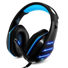 Gaming Headset for PS4 Xbox One Stereo Sound with Noise Isolation Mic Black-blue
