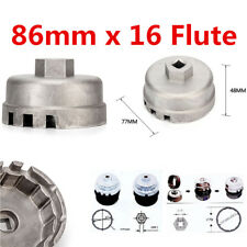 86mm 16 Flute Oil Filter Wrench Housing Cap Remover Tool for BMW Volvo E90 X3 X5