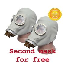 2 pcs Gas mask GP-5 Gray Size-4 Extr.Large Soviet Russian Military New Only mask