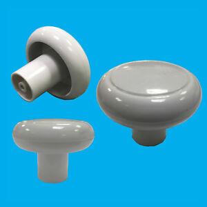 4x 49mm Plastique Blanc Armoire, Placard, Tiroir Meuble Porte Poignée Boutons