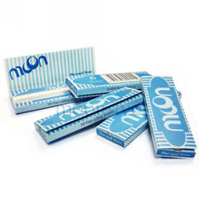 "5×50 sheets 70mm 1.0"" inch Moon Blue Cigarette Rolling Papers all 250 leaves"