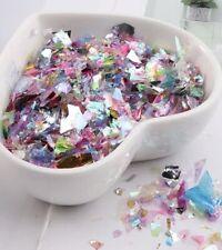 IRIDESCENT RAINBOW MIX MYLAR Glitter Paper Foil Color Nail Art Craft Slime DIY