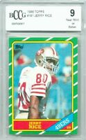 1986 Topps #161 Jerry Rice Rookie Card Graded BCCG 9