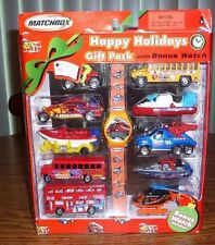 Matchbox Happy Holidays Gift Pack with BONUS Watch – Brand New