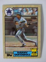 1987 Topps Danny Tartabull Kansas City Royals Wrong Back Error Baseball Card