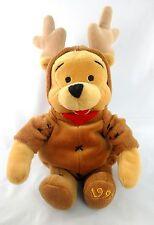 "Mint Disney WINNIE The POOH Christmas Reindeer 9"" Bean Bag Plush Stuffed 1999"