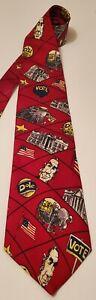 Mike Luckovich Designer 1996 Vote Dole For Prez 100% Silk Neck Tie