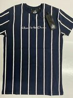 Mens Designer Kings Will Dream KWD King Short Sleeve T Shirt Gym Blue Stripe Top