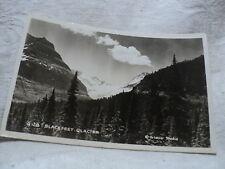 Blackfeet Glacier Mt Montana Rppc postcard by Glacier Studio