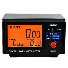 Digital SWR WATT Meter 200W LCD for 2-Way Radio Walkie Talkie Forward/Reflected