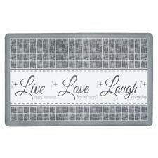 "Live~Laugh~Love Gray Memory Foam Anti-Fatigue Kitchen Floor Mat 18"" x 30"""