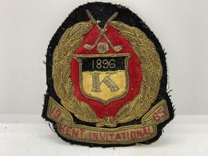 Old Golfing Collectible Rare Vintage 1965 Kent Invitational Embroidered Patch