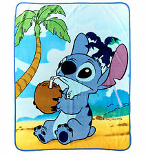 "Disney LILO & STITCH HAWAII Plush ""COCONUT"" Throw Blanket  48"" x 60"" FREE SHIP"