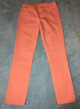 OshKosh B'gosh Girls Twill Moto Jeggings Pants Coral 14 Big Kids