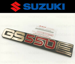 Genuine Suzuki Frame Cover Gold Emblem GS550E (1979) #68141-47020