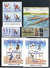 Chad #646A,B, 688-91, C271-7 Olympics  Selection MNH Superb SCV $37.50