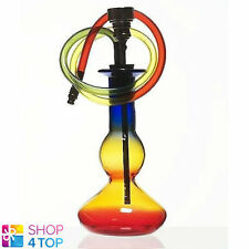 SMALL GLASS WATER SMOKING BONG RASTA COLORED TOBACCO MARY JANE PIPE 11 CM MINI