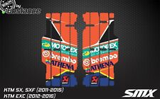 KTM SX SXF EXC radiator louver decals louvre graphics 2011 2012 2013 2014 2015