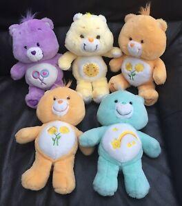 "Vintage 1980s Care Bears 13"" Plush Soft Toys X5 Bundle"