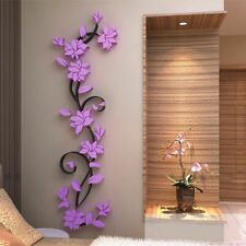 3D Flower Wall Stickers Decals Vinyl Mural Art Home Room DIY Decor Removable New