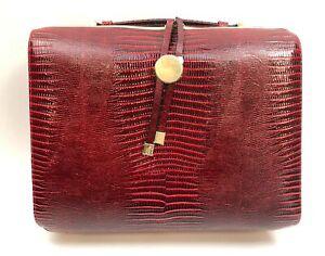 Estee Lauder Red Cosmetic Makeup Travel Bag Case NWOT 12.5 x 10 x 4 inch NWOT